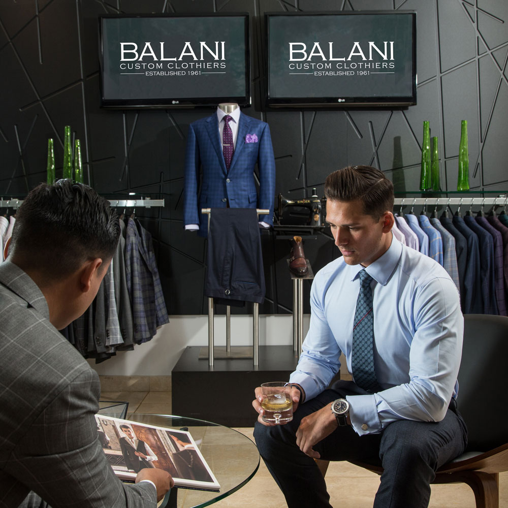 balani custom suit process 1